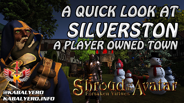 Shroud Of The Avatar 😍 A Quick Look At Silverston, A Player Owned Town
