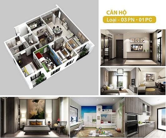 Thiết kế căn hộ HÀ ĐÔ CENTROSA GARDEN đường 3/2 Quận 10