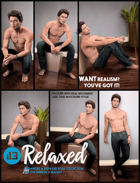 i13 Relaxed Pose Collection for the Genesis 3 Male
