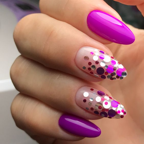 Beautiful Design For Almond Nails