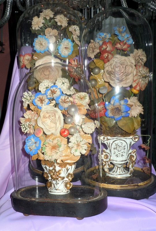 I Am Sharing With You Today A Group Of My Domes That Contain Fl Displays Most Them Are On The Side Board Victorians Called Table