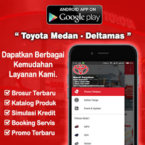 Aplikasi Android Dealer Mobil Toyota Deltamas Medan Sumatra Utara