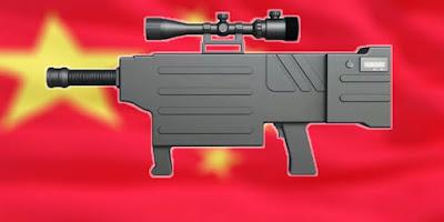 Chinese laser gun.