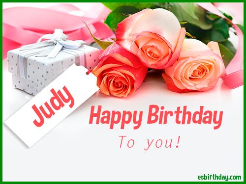 happy birthday judy images Happy Birthday Judy   Happy Birthday images for Name happy birthday judy images