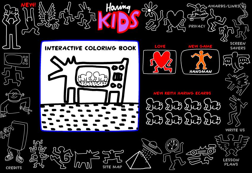 Tech Coach: Haring KIDS: Interactive Coloring Book