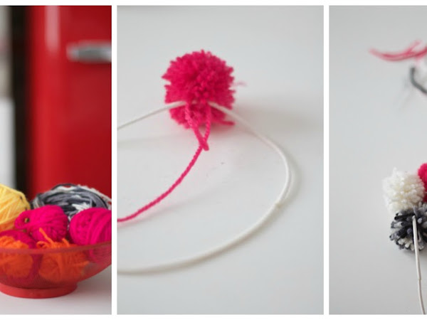 DIY Cerchietto PomPom/ PomPom Headband