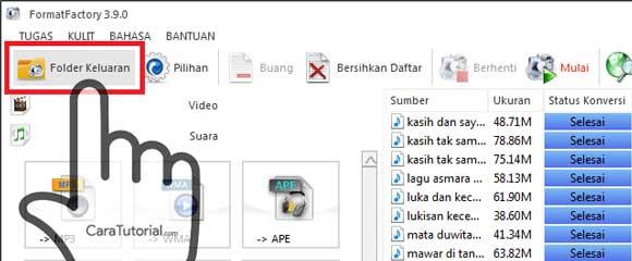 Folder Keluaran Format Factory