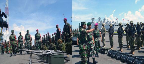 TNI AL gelar kekuatan di Koarmatim