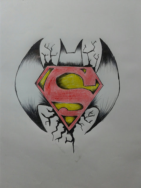 How to Draw Superman VS Batman Logo