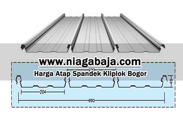 Harga Atap Spandek Kliplok Bogor Per Meter dan Per Lembar 2021