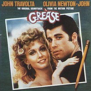 Portada de la banda sonora de Grease, 1978