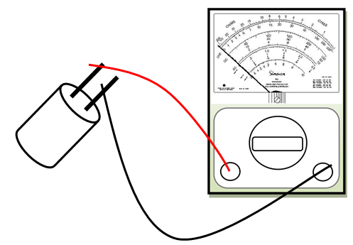 Testing Capacitors with an Ohmmeter (Analog Multitester