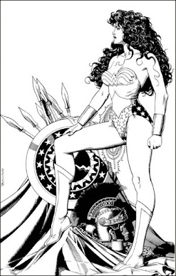 Wonder Woman drawing by Brian Bolland