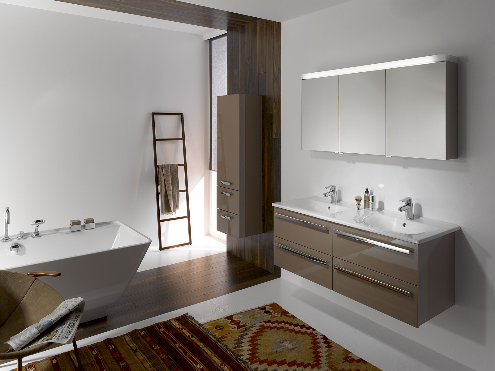 Modern bathroom decor accessories - Modern Bathroom Interior Design Wallpapers