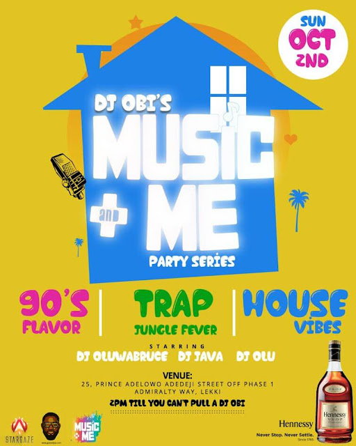 dj obis music & me party series for lexhansplace