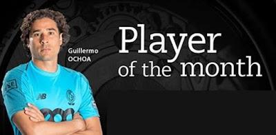 Guillermo Ochoa Jugador mes