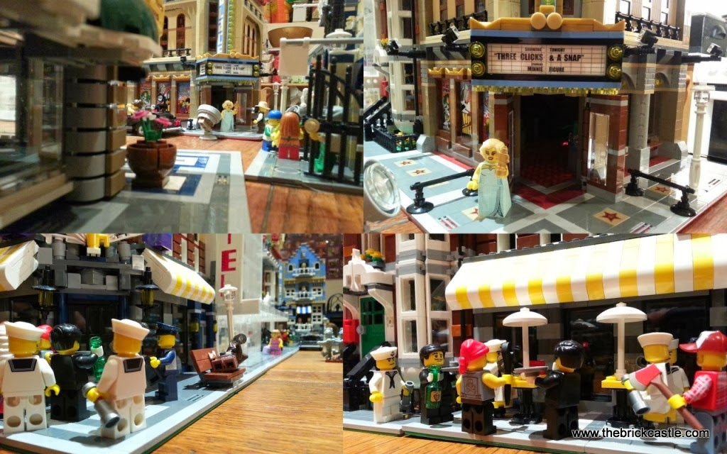 Palace Cinema 10232 Cafe Corner 10182 LEGO street