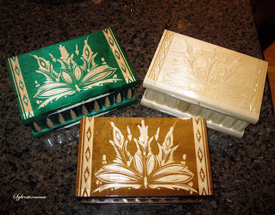 Wooden Puzzle Compartment Boxes by Kalotart on Etsy