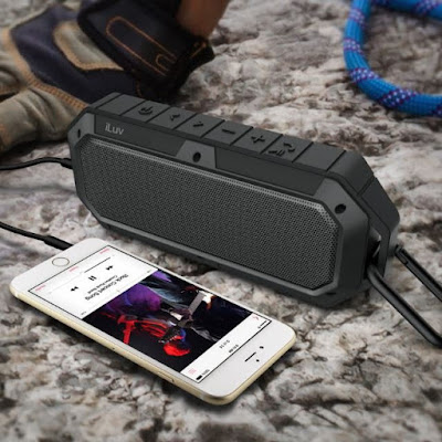 Rugged Outdoor Bluetooth Speaker with Carabiner