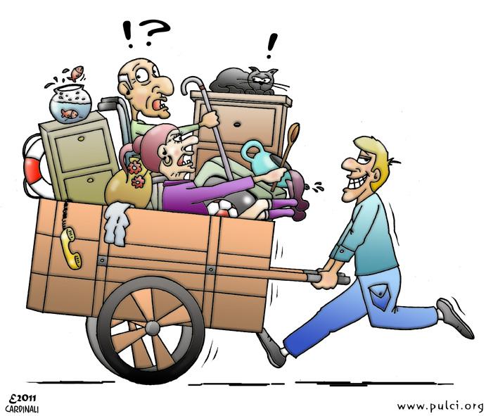 Estremamente PULCI blog: Disegni umoristici - Carretto per sgombero WO45