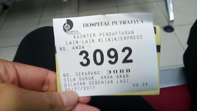 Nombor giliran Hospital Putrajaya