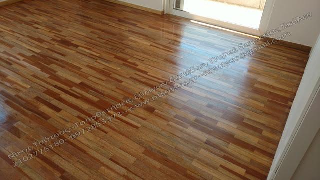 Σατινέ ξύλινο πάτωμα