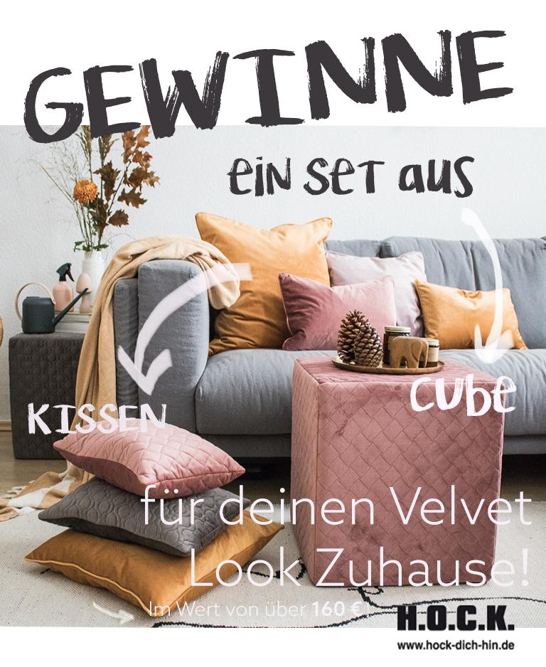eine kissenschlacht im velvet look mit h o c k gewinnspiel doitbutdoitnow. Black Bedroom Furniture Sets. Home Design Ideas
