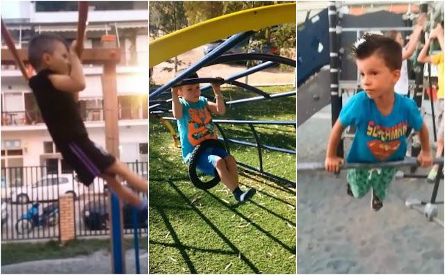 """Άρης Μαγουτσάκης: Ο 5χρονος """"Σαμψών"""" από την Ηγουμενίτσα (ΒΙΝΤΕΟ)"""