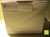 Verpackung vorne: Maxwell & Williams AA1671 Kitchen Mörser mit Stößel, Gewürzmörser, 12 cm, in Geschenkbox, Porzellan