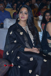 Actress Anushka Anushka Shetty Stills in Black Salwar Kameez at Om Namo Venkatesaya Audio Launch Event  0031.JPG
