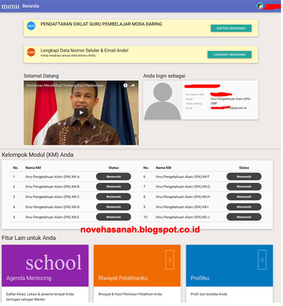 dengan mengenal fitur-fitur baru di dashboard saat login di akun guru pembelajar online (GPO) diharapkan guru semakin akrab dengan gurupembelajar.id