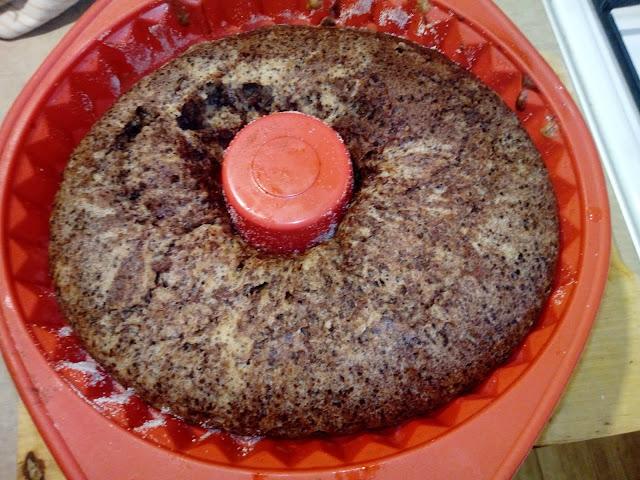 babka kakaowo orzechowa babka gotowana z orzechami babka marmurkowa babka zebraciasto orzechowe ciasto z orzechow wloskich