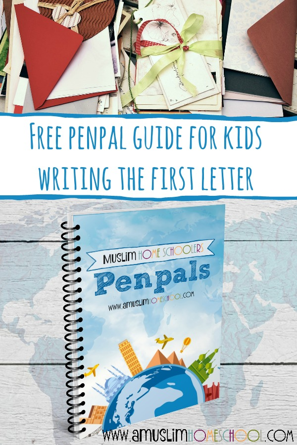 free penpal guide for kids with ideas for writing the first letter