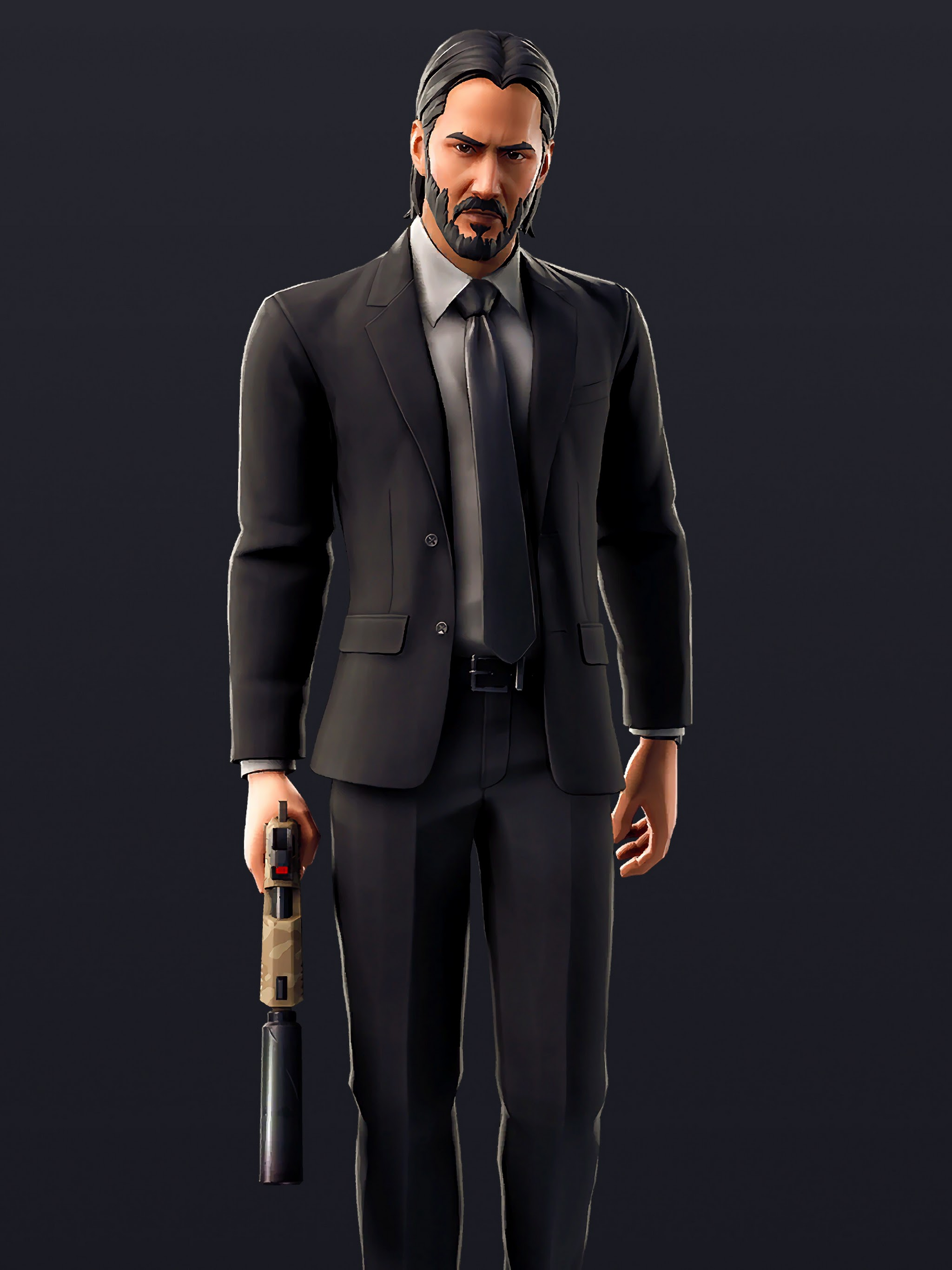 Fortnite John Wick Skin Outfit 4k Wallpaper 233