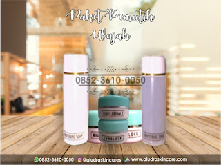 paket pemutih wajah alami, aludra skin care 0852-3610-0050