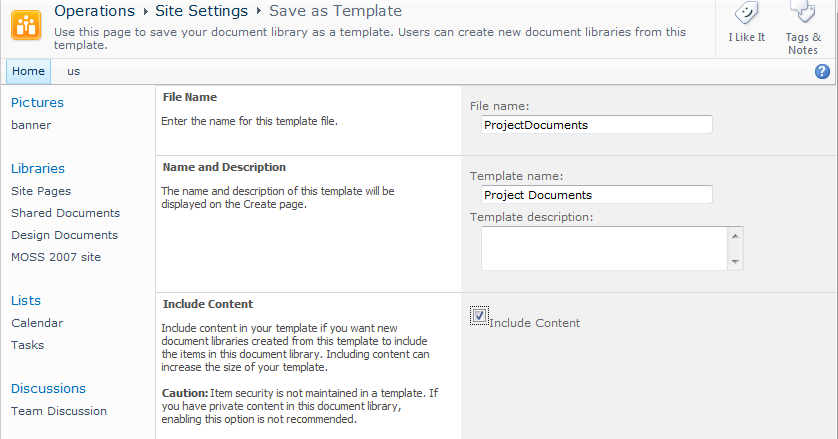 increase maximum size of site  list templates in