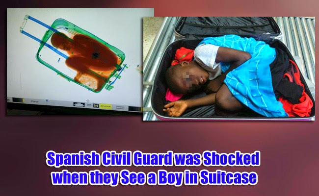 Spanish Civil Guard was Shocked when they See a Boy in Suitcase