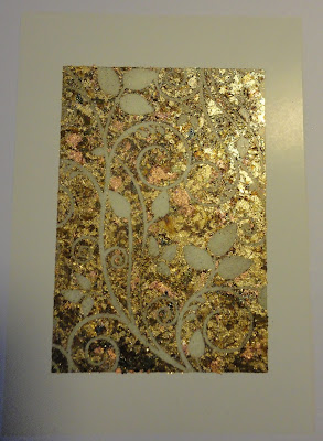 Leafy Swirl in gold mix gilding flakes