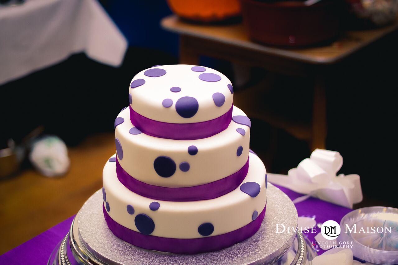 Purple Polka Dot Birthday Cake