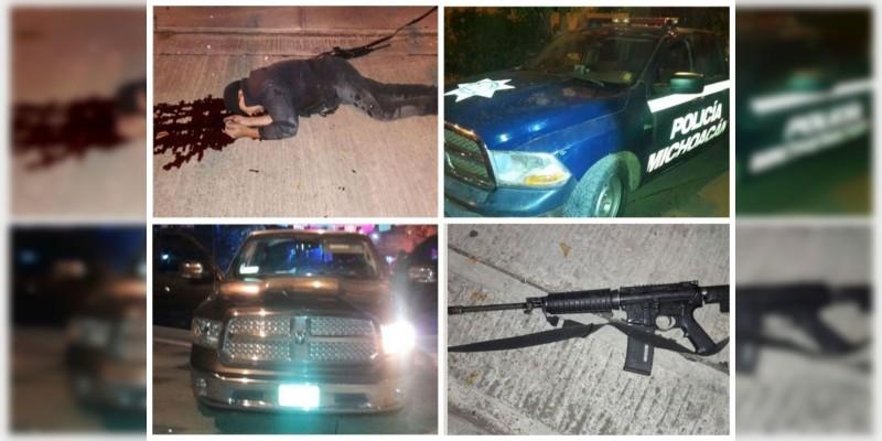 Policías abaten a sicario que los atacó en Michoacan