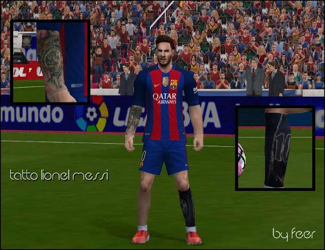 Ultigamerz Pes 6 Lionel Messi New Tattoo Arm Amp Leg