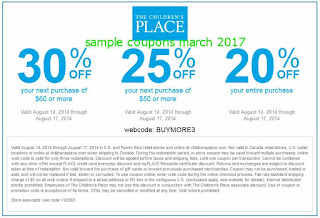 free Childrens Place coupons for march 2017