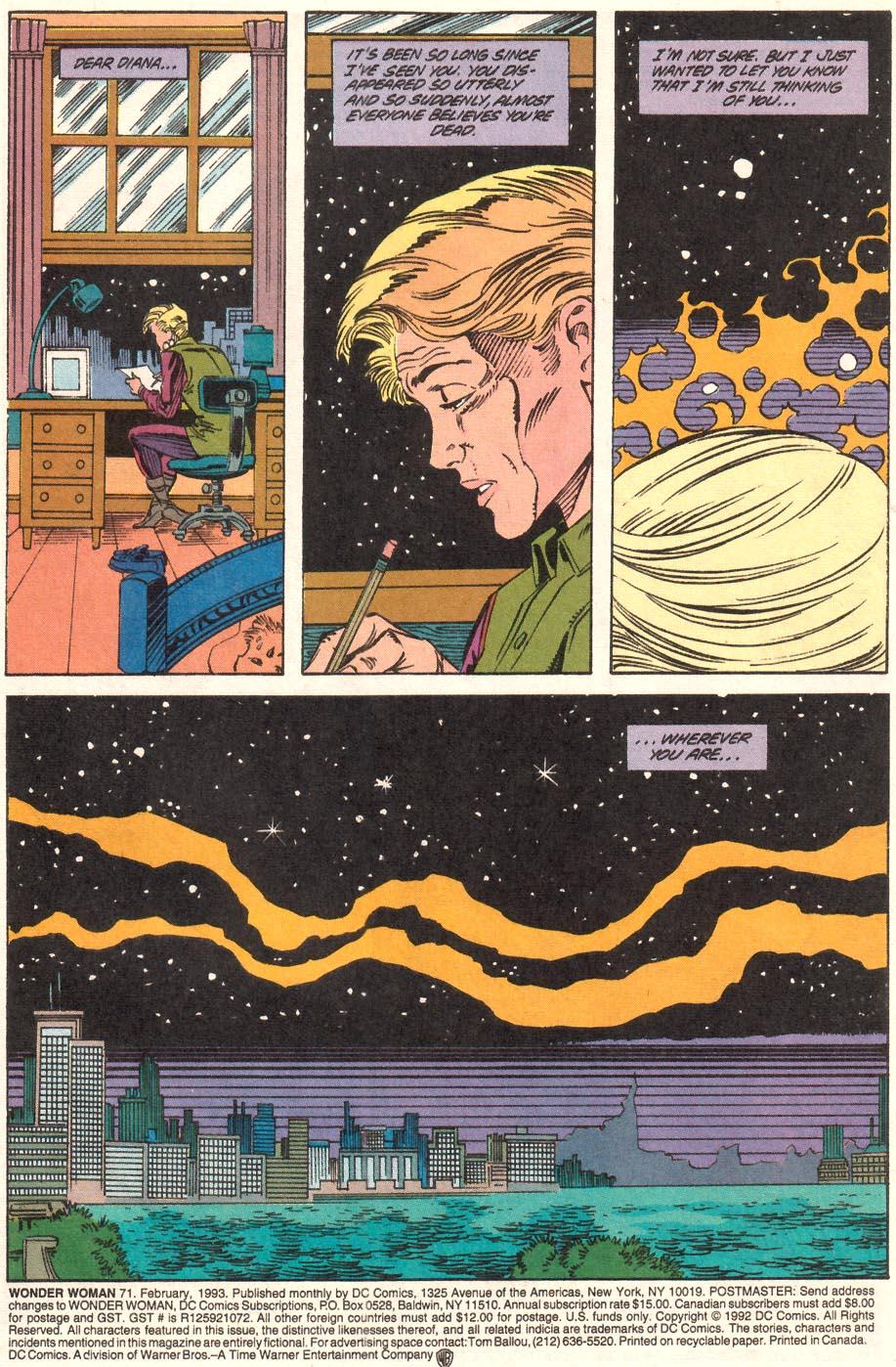 Read online Wonder Woman (1987) comic -  Issue #71 - 2
