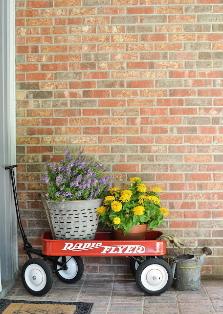 Radio Flyer Wagon on a front porch