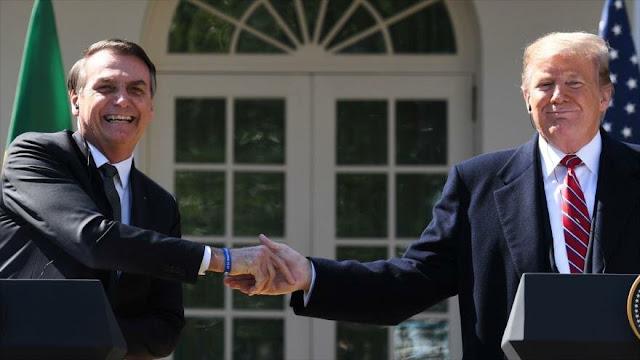 """Bolsonaro: Brasil votará """"en línea"""" con Israel y EEUU en la ONU"""