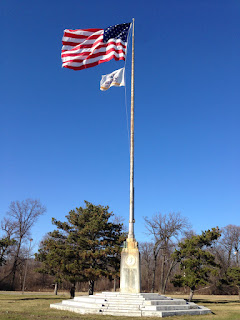 Flagpole on Belle Isle in Detroit