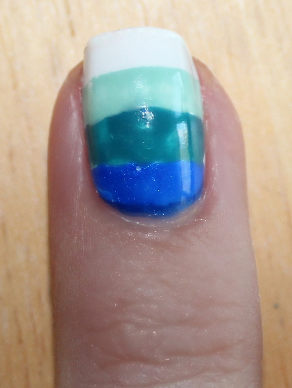 Bedazzled Nails: Blue Tribal Nails