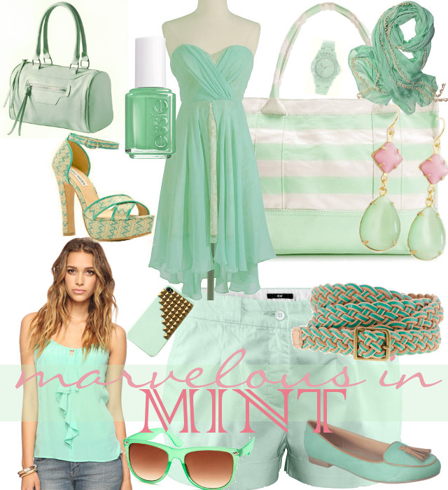 Collaboration of Apparel and Accessories in Mint
