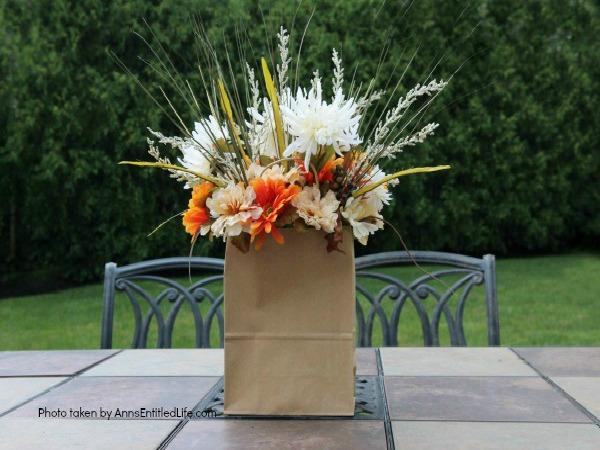 Paper Bag Flower Arrangement from Ann's Entitled Life
