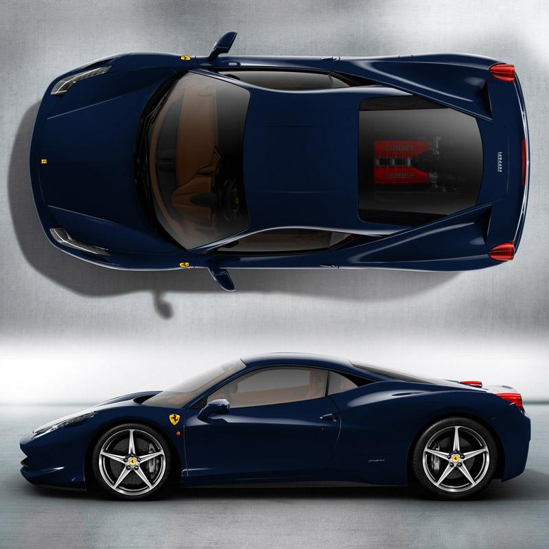 2014 2015 Sports Cars 3030 Wallpaper: SPORTS CARS: Ferrari 458 Italia Blue Wallpapers 2012